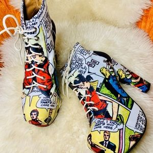 Jeffrey Campbell x Black Milk Comic Litas